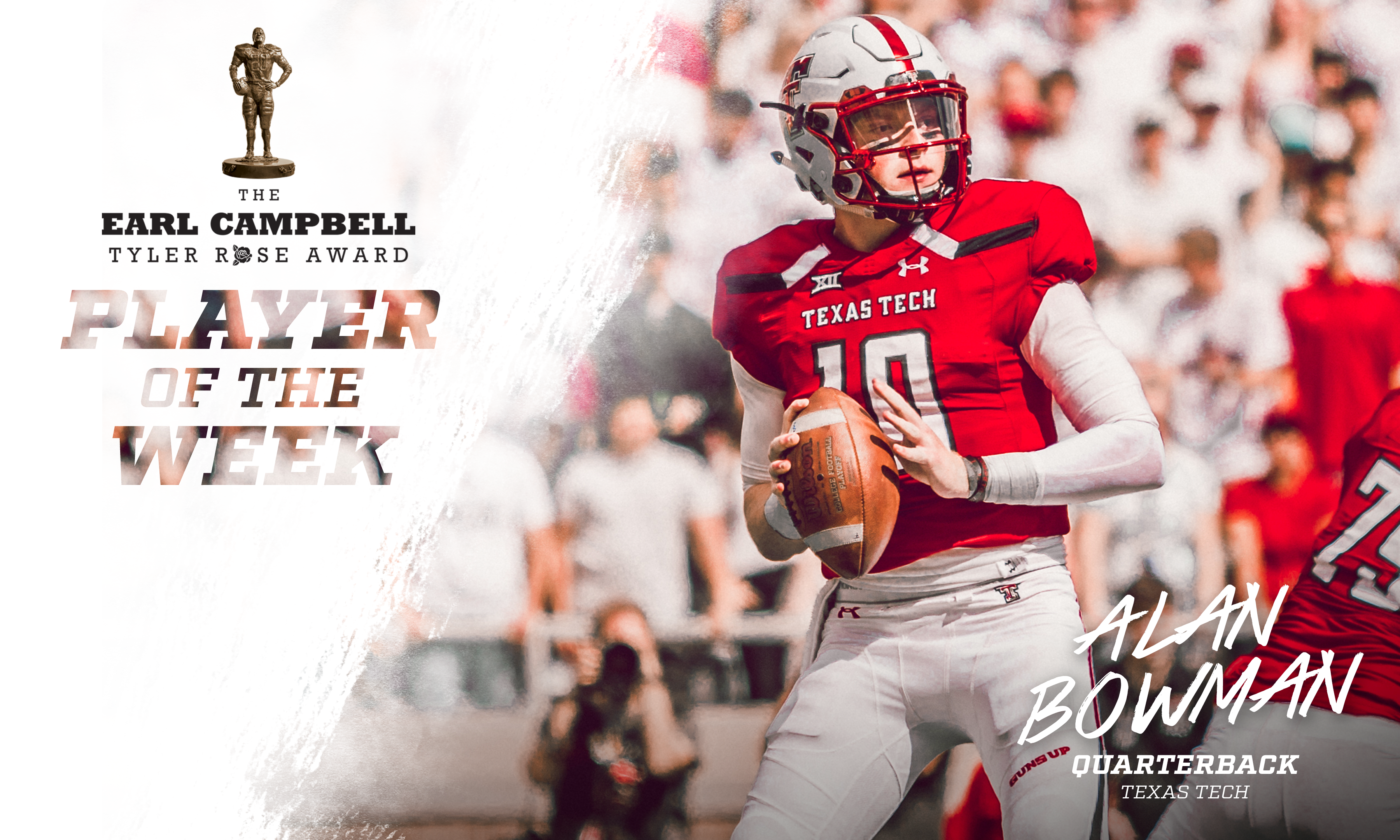 ... Alan Bowman has been named The Earl Campbell Tyler Rose Award National  Player of the Week for the third week of the college football season. cd434a5c0